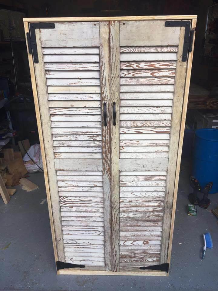 Pallet Cabinet Easy Pallet Ideas