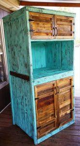 sturdy wooden pallet kitchen hutch
