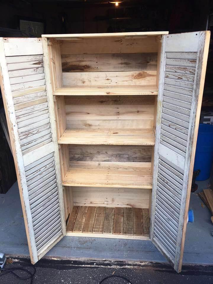 upcycled pallet cabinet
