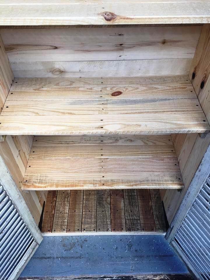 handmade pallet cabinet
