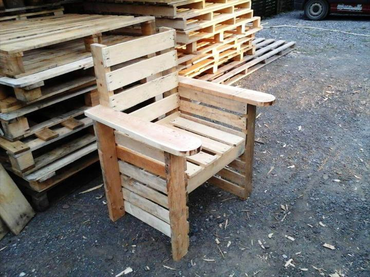 handcrafted pallet chair