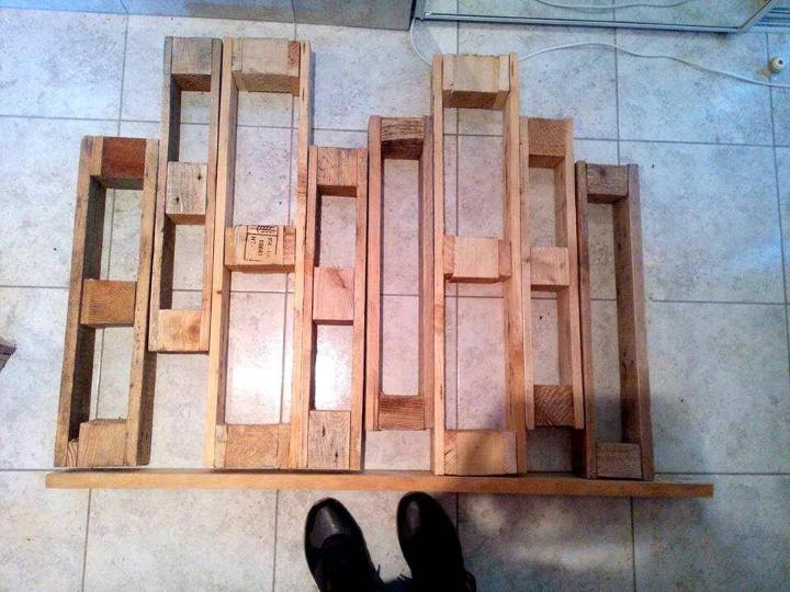 recycled pallet old dice sections organizer