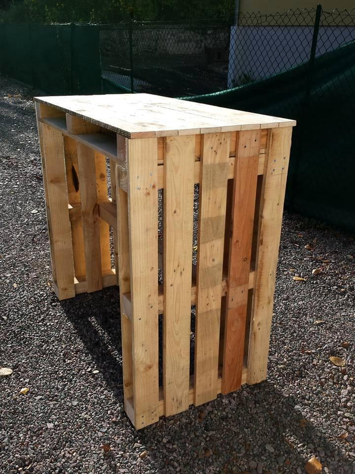 repurposed pallet computer desk