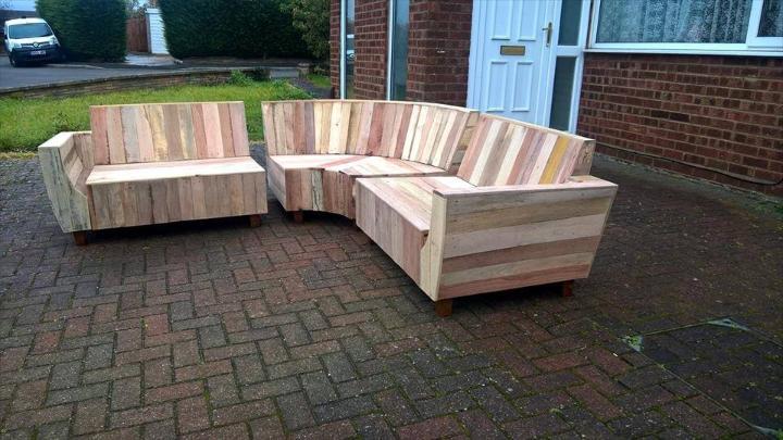 hand-built modern pallet sofa
