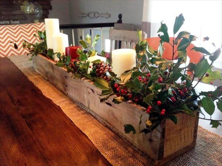 DIY Pallet Centerpiece