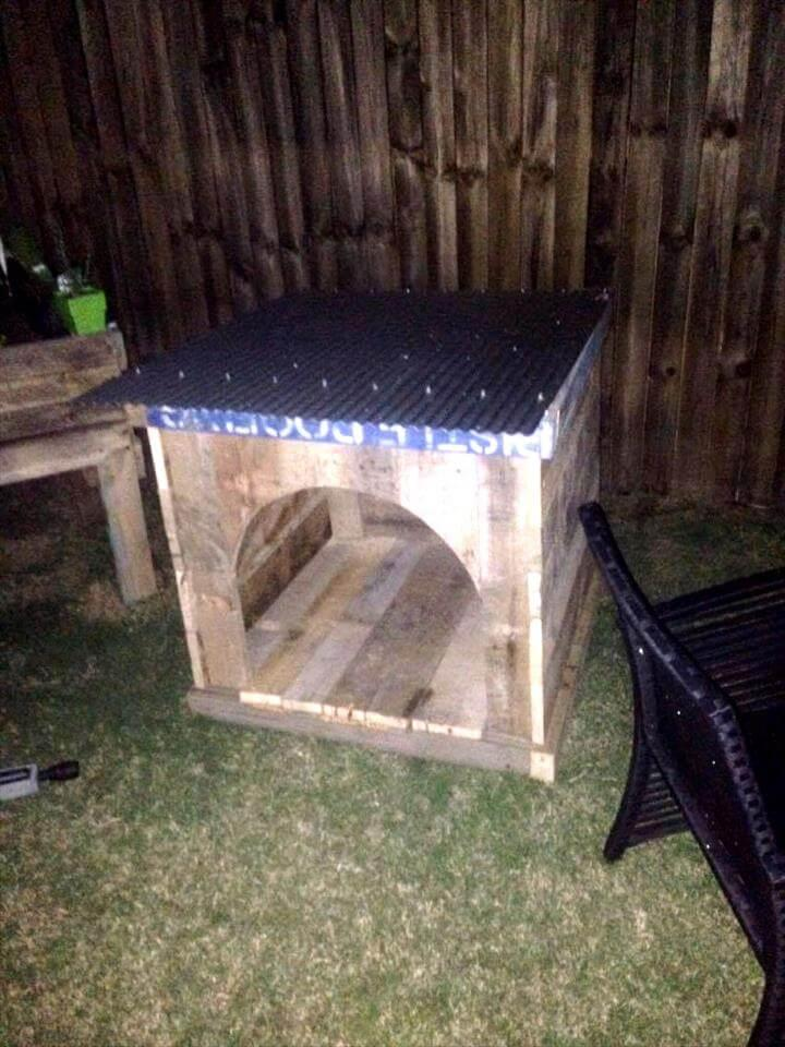 handcrafted pallet pet house