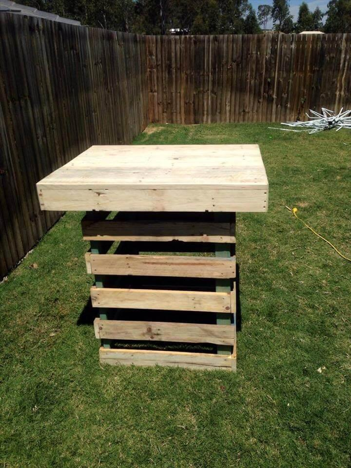 Wooden Pallet Garden Pot Stand or Garden Party Table