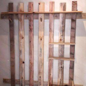 repurposed wooden pallet wall organizer