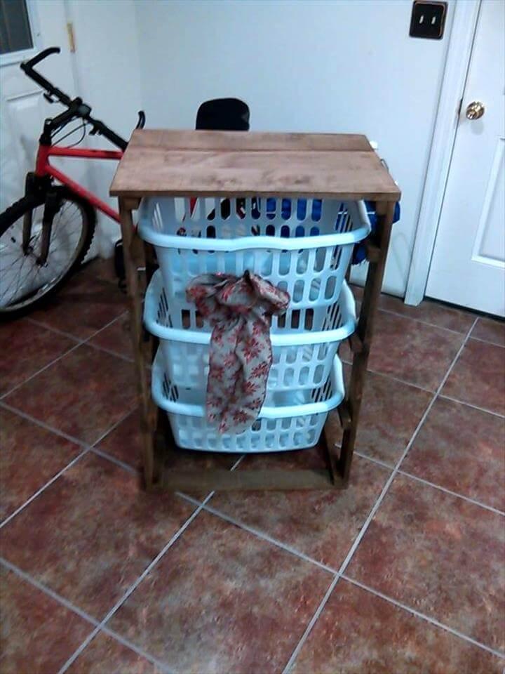 Pallet Coffee Table/ Hall Tree/ Laundry Basket Holder ...