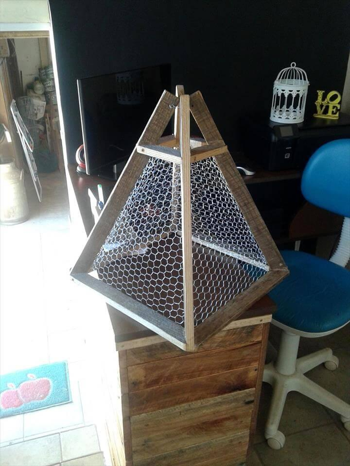 no-cost pallet pendant lampshade