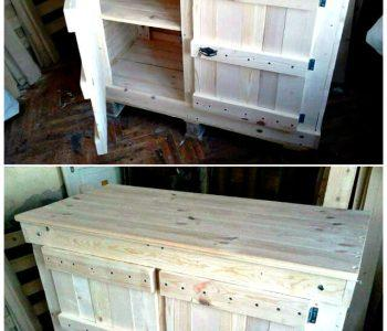 Pallet Wood Cabinet Unit for Kitchen - Pallet Furniture Ideas - Pallet Ideas - Pallet Projects (1)