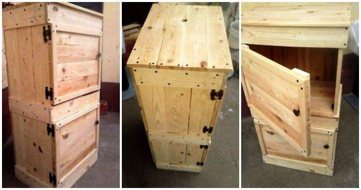 Wood Pallet Beverage Storage Cabinet - Easy Pallet Ideas