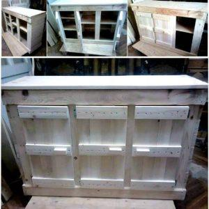 Wooden Pallet Cabinet Unit for Kitchen - Pallet Furniture Ideas - Pallet Ideas - Pallet Projects (1)