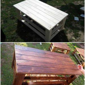 Wooden Pallet Coffee Tables - DIY Pallet Furniture Ideas - Pallet Ideas - Pallet Projects