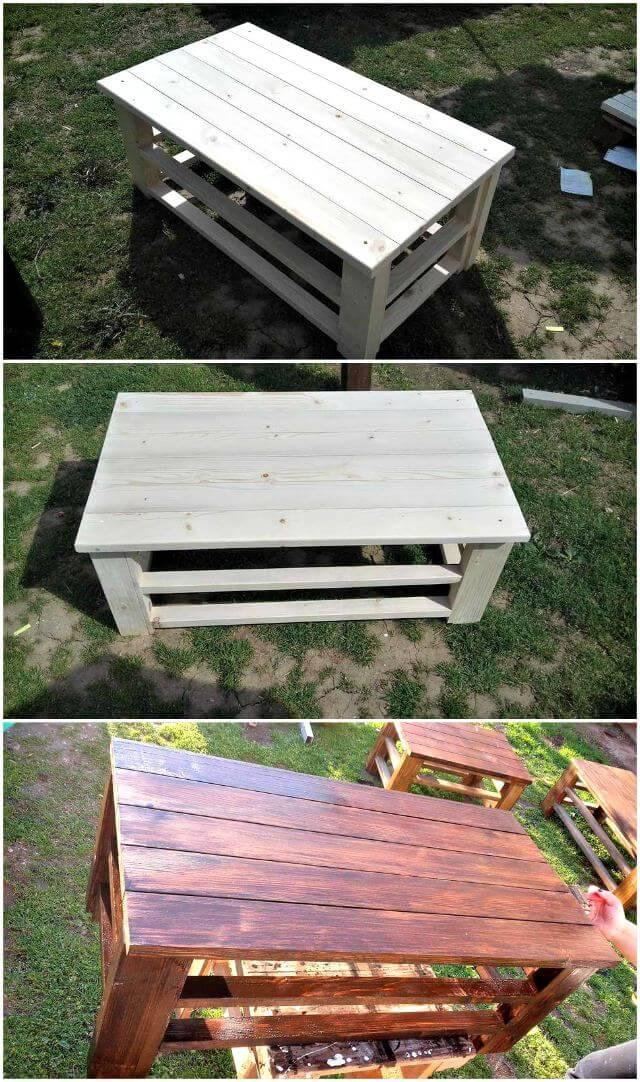 Wooden Pallet Coffee Tables - Pallet Furniture Ideas - easy Pallet Ideas - Pallet Projects