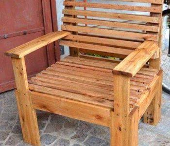 Pallet Chair - Pallet Furniture Ideas - Pallet Ideas - Pallet Projects