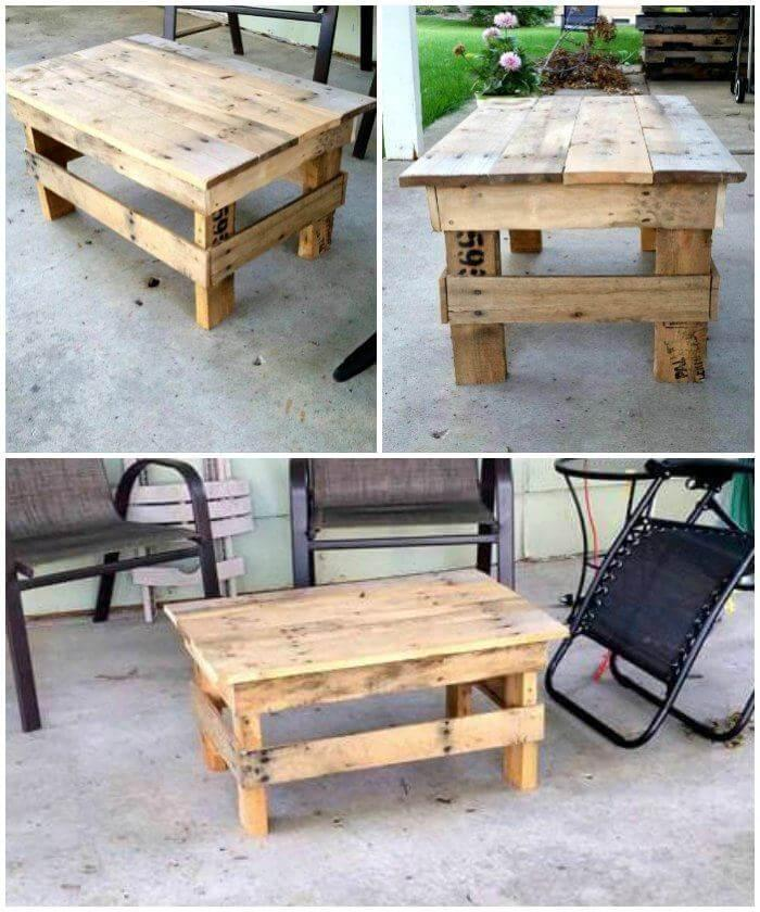 Pallet Coffee Table - Mini Design, pallet furniture, pallet projects, pallet ideas