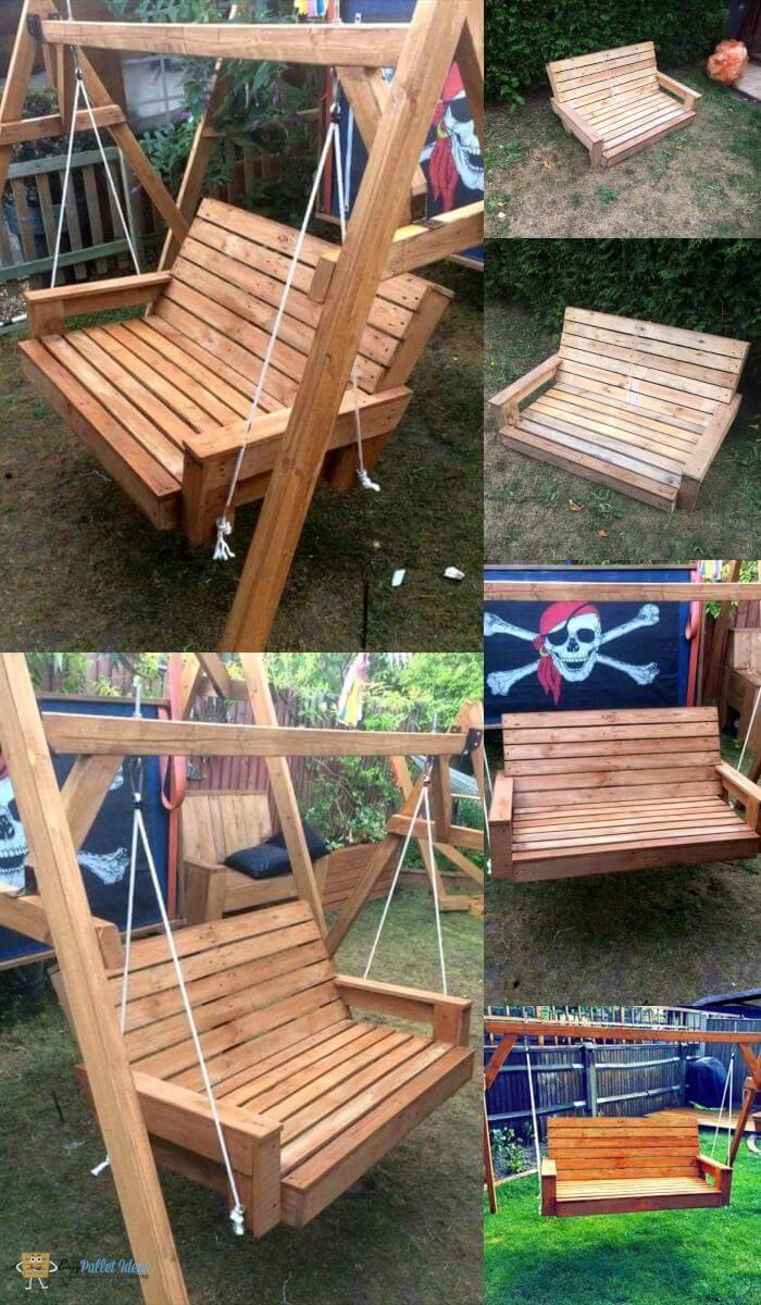 Picture of: Build A Pallet Swing Easy Pallet Ideas