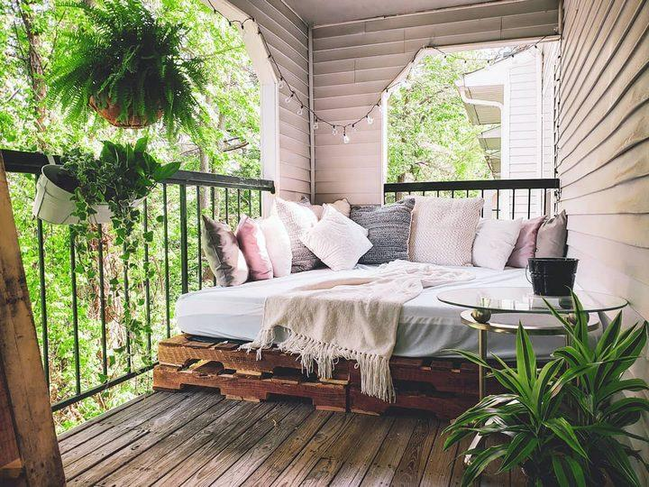 Pallet Bed for Balcony