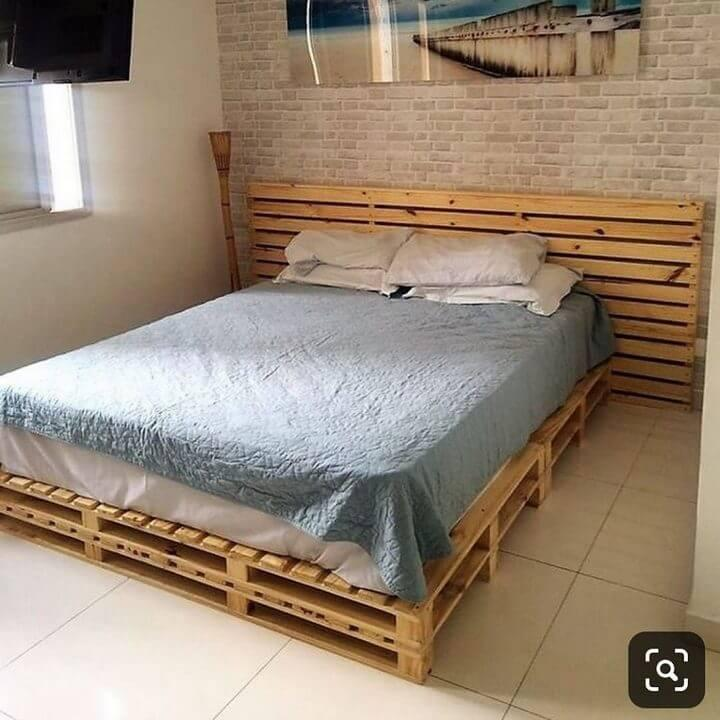 king size pallet bed diy