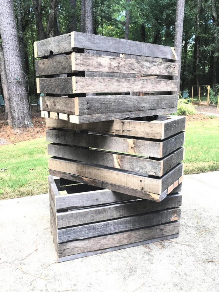 Crates Out of Wood Pallets