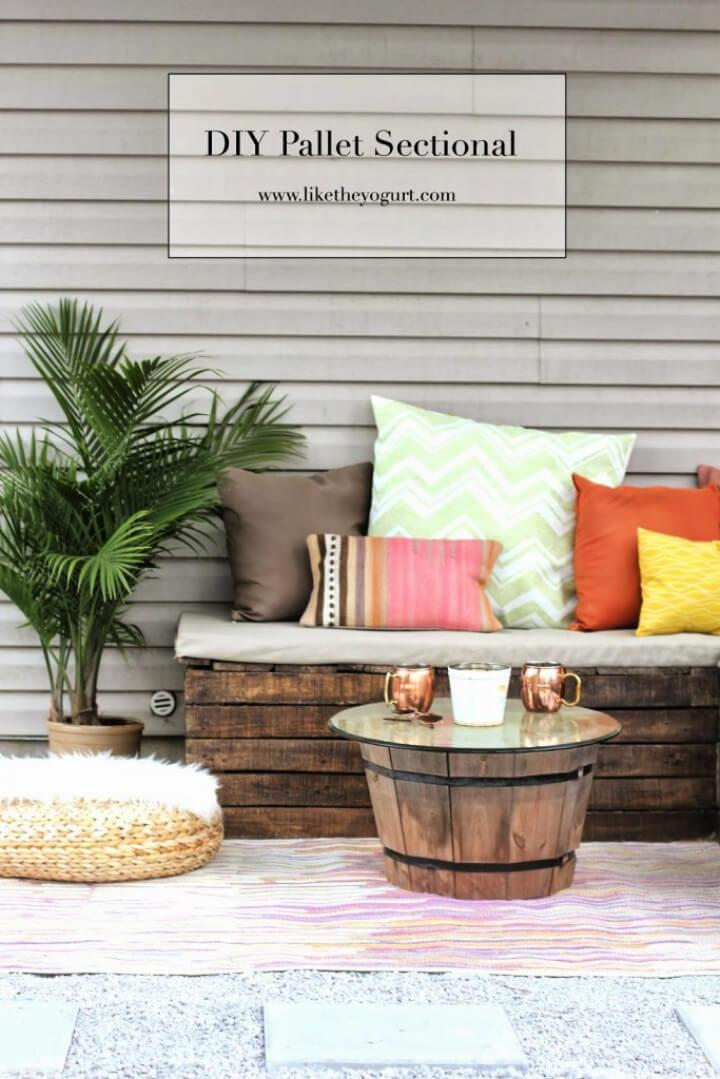 DIY Outdoor Pallet Sectional