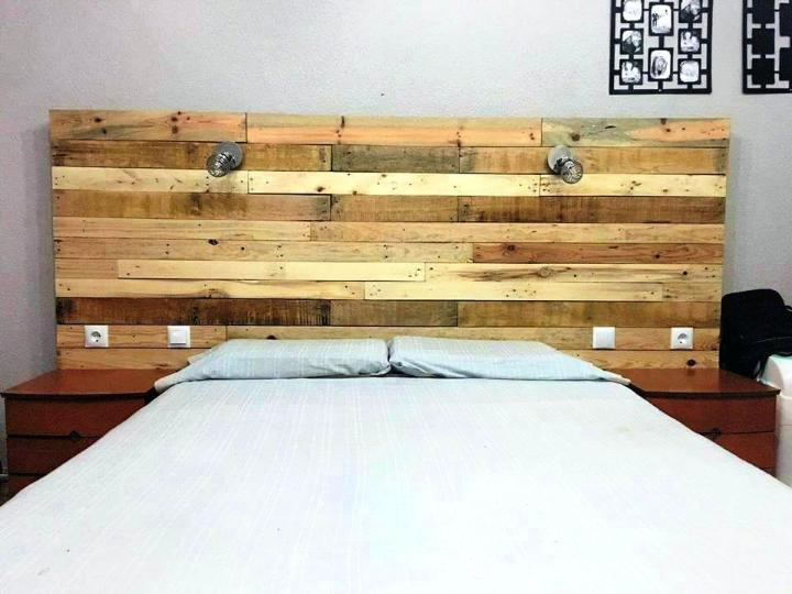 Enchanting DIY Pallet Headboard