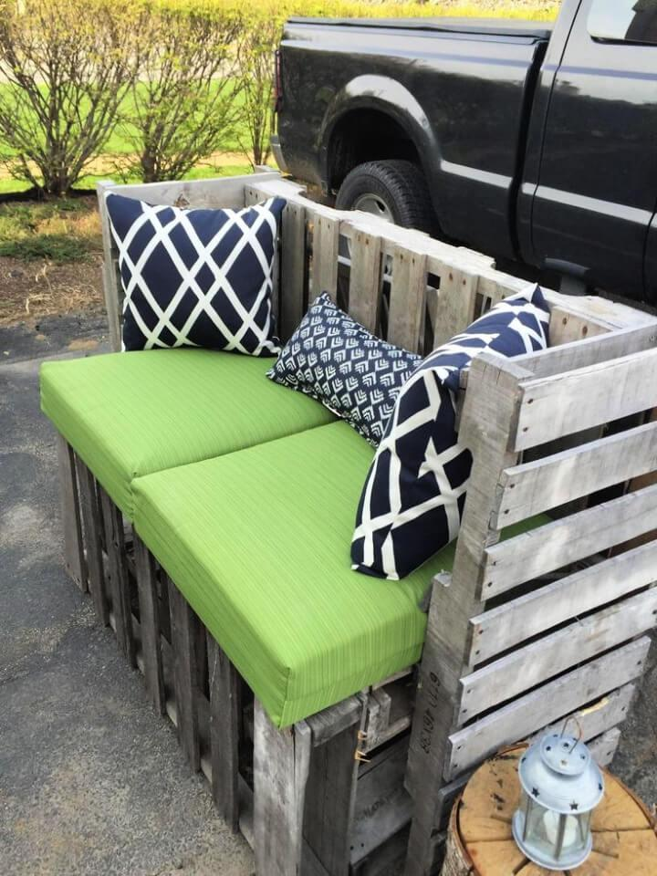 Outdoor Bench Made From Pallet Wood