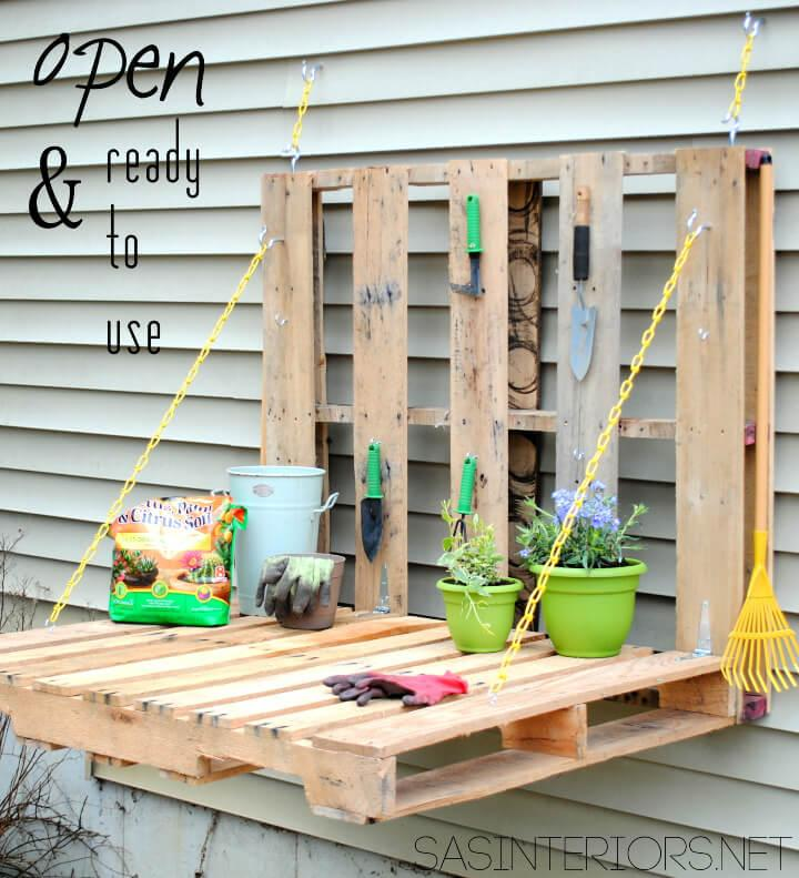 Pallet Gardening Table on Budget