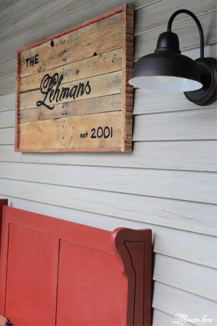 Pallet Sign for Farmhouse Front Porch